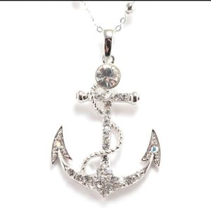 "Large Anchor on 30"" Decorative Chain"